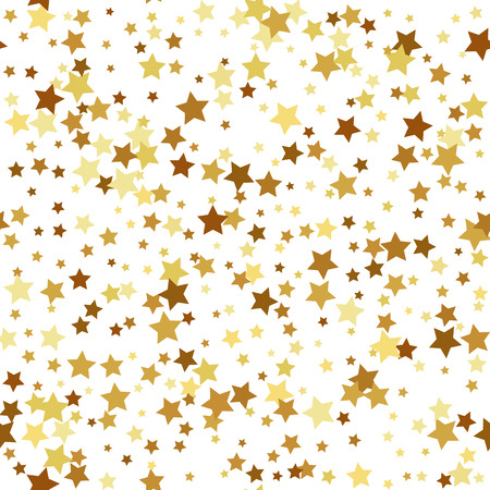 vintage paper: Gold star seamless pattern Illustration