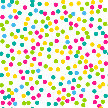 Confetti seamless pattern. Bright colors. Illustration