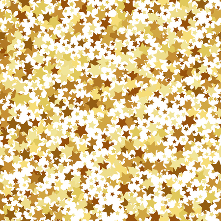 star pattern: Gold star seamless pattern Illustration