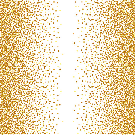 Abstract golden confetti background Illustration