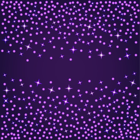 violet background: Abstract dotted violet background with lights and stars Vettoriali