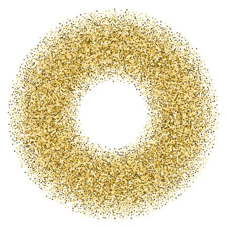 confetti: Golden confetti frame