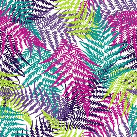 Fern frond seamless pattern