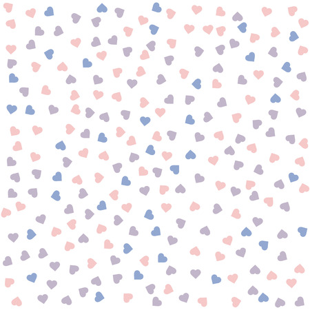 serenity: Heart seamless pattern. Vector illustration. Rose quartz and serenity colors. Illustration