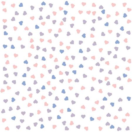 quartz: Heart seamless pattern. Vector illustration. Rose quartz and serenity colors. Illustration