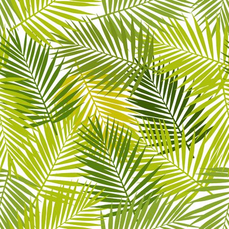 Palmblad silhouetten naadloos patroon. Vector illustratie. Tropische bladeren.