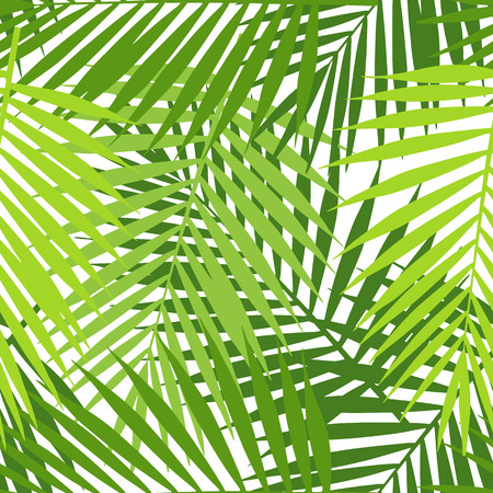 tropical leaves: Palm leaf silhouettes seamless pattern. Tropical leaves.