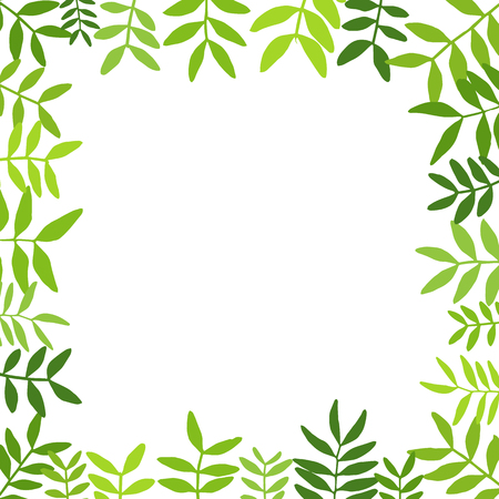 Branches with green leaves. Ilustrace