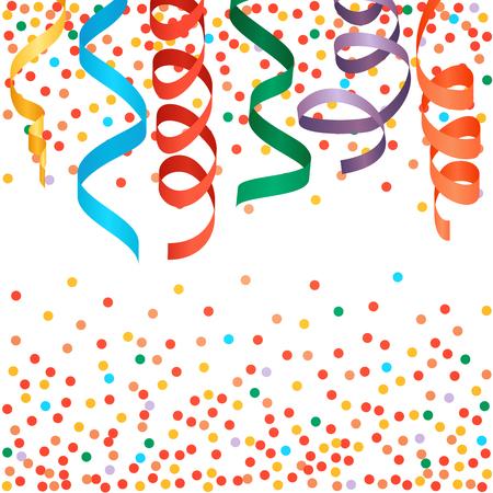 serpentinas: serpentinas y confeti de fondo Carnival.