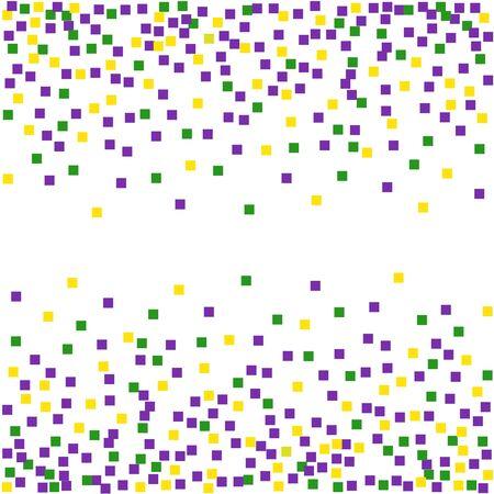Mardi Gras background with confetti.