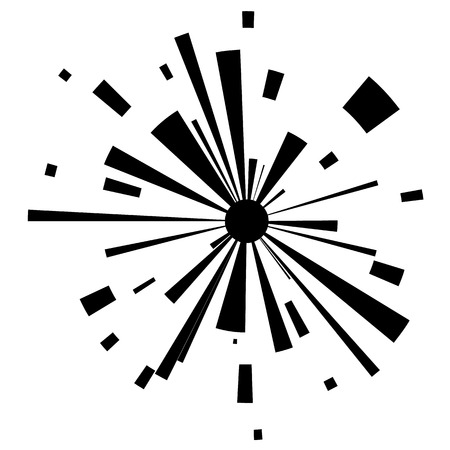 Abstract explosion on white background