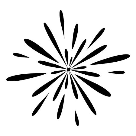 Fireworks celebration illustration on white background.