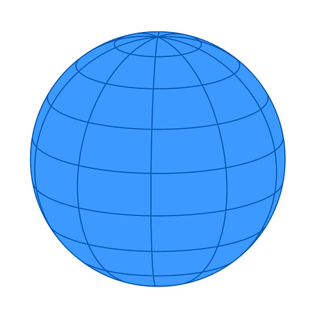 Earth on white background