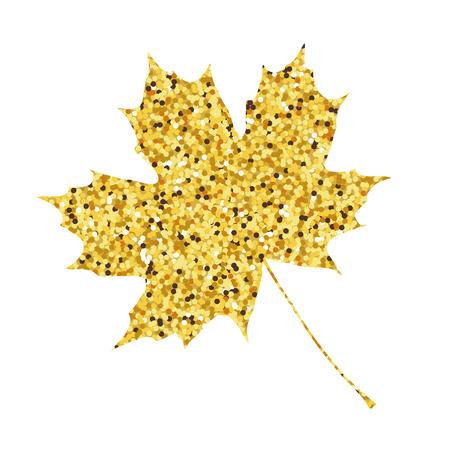Autumn fall. Golden maple leaf background. illustration. Illustration