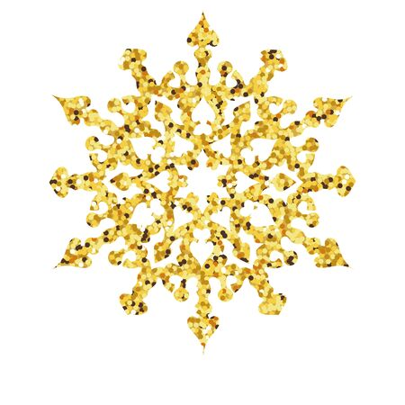 christmas gold: Christmas gold card with snowflake. illustration Illustration