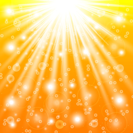 Sun rays and light effects. Vector illustration