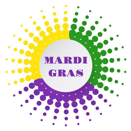 new orleans: Mardi Gras halftone background. Vector illustration