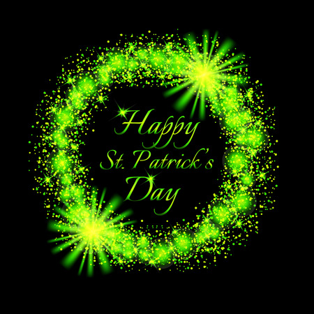 Happy Saint Patricks Day background. Illustration