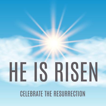 sole: Sfondo di Pasqua. È risorto. Illustrazione vettoriale