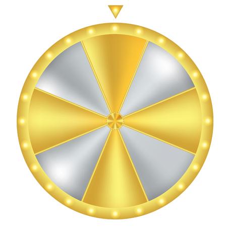 Rad van Fortuin. Goud en zilver met gloeilicht. Vector illustratie