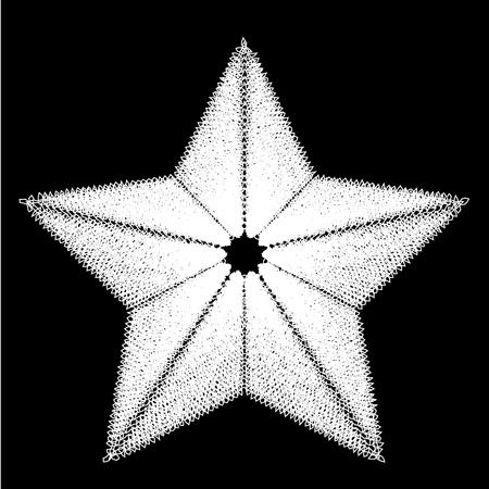 Abstract star. Design element. Vector illustration.