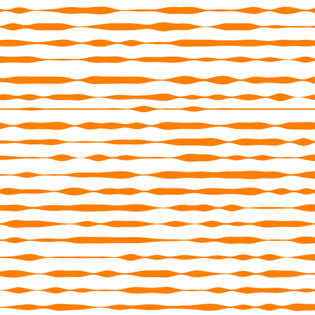 Orange and white striped background. Vector illustration Illustration
