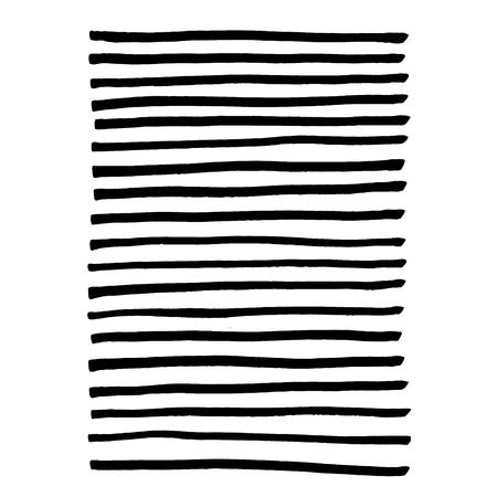 黒のマーカー ライン。ストライプの背景。ベクトル図
