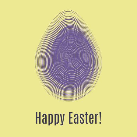 Feliz Páscoa cartão ultra violeta. Caça ao ovo para layout de modelo de crianças. Ilustração vetorial Foto de archivo - 94435348