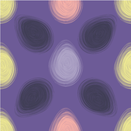 Happy Easter ultra violet seamless pattern. Vector illustration.