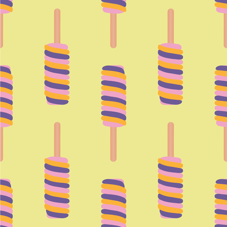 Ice cream colorful seamless pattern. Vector illustration. Foto de archivo - 95369580