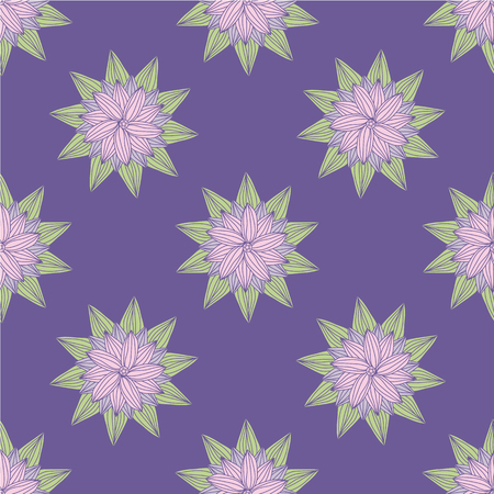 Floral doodle seamless pattern. Vector illustration Foto de archivo - 96964175