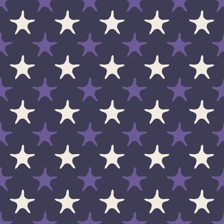 Ultra violet starfish seamless pattern. Vector illustration Foto de archivo - 97433097
