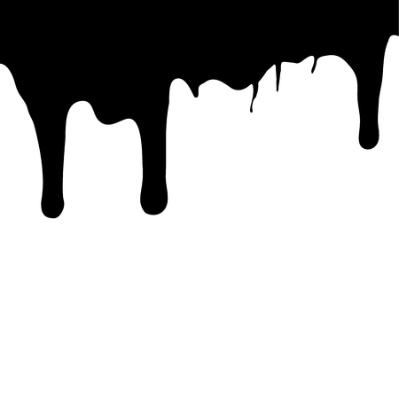 Melting chocolate dripping on white background. Vector illustration. Foto de archivo - 109791760