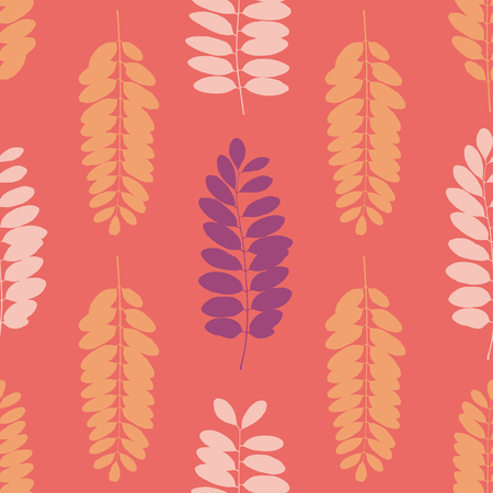 Tree leaf silhouettes seamless pattern. Vector illustration Foto de archivo - 113933664
