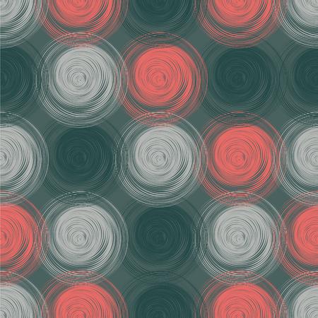 Polka dot seamless pattern with abstract circles. Vector illustration Foto de archivo - 126758160