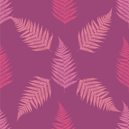 Fern seamless pattern. Vector illustration Foto de archivo - 126758161