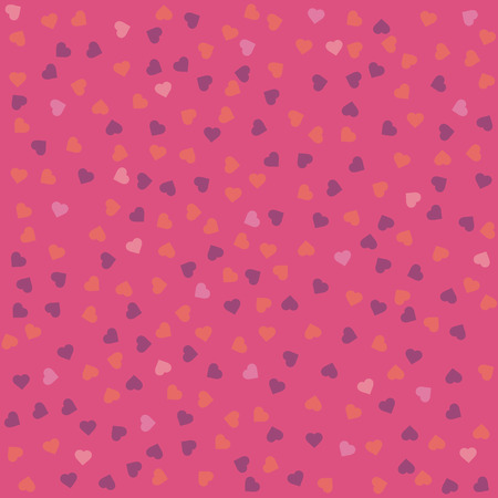 Pink seamless pattern with living coral and violet hearts Foto de archivo - 113960185