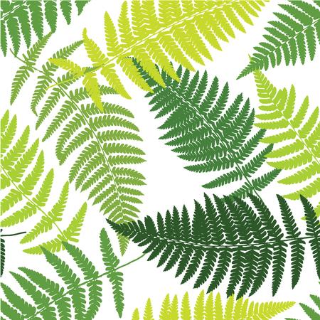 Fern tropical seamless pattern. Vector illustration Foto de archivo - 126375650