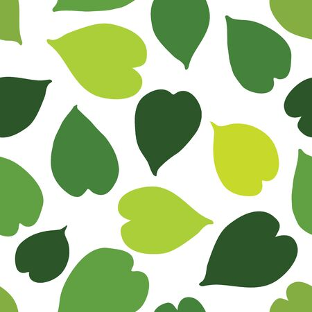 Green tropical leaves seamless pattern. Vector illustration.