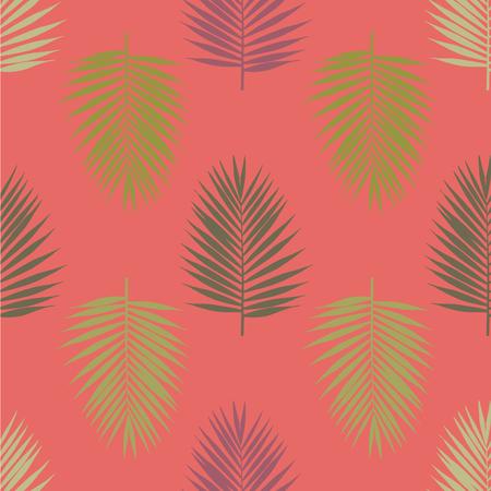 Modern tropical palm leaves seamless pattern. Vector illustration. Foto de archivo - 126375652