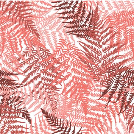 Fern tropical seamless pattern. Vector illustration Foto de archivo - 126375653