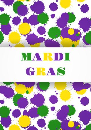 Mardi Gras carnival party background. Fat tuesday. Vector illustration. Foto de archivo - 126292837