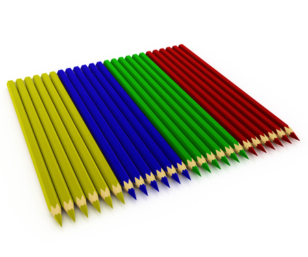 laid: Colored pencils laid out in the background
