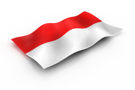 indonesia: the flag of Indonesia consisting of cubes