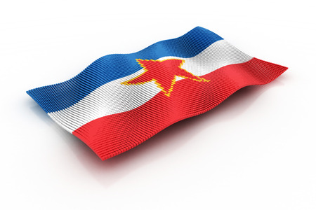 yugoslavia federal republic: the flag of Yugoslavia