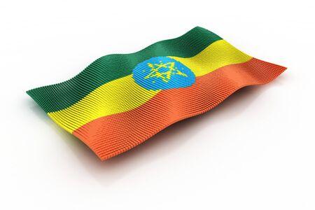 ethiopia abstract: flag of ethiopia Stock Photo