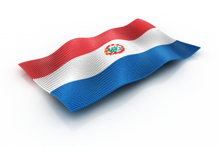 paraguay: The Flag Of Paraguay Stock Photo