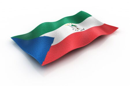 equatorial: flag of Equatorial Guinea Stock Photo