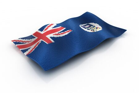 falkland: flag of Falkland Islands Stock Photo