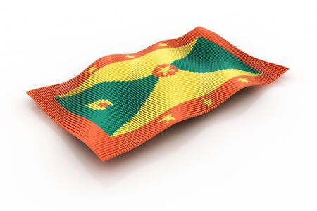 grenada: flag of Grenada consists of cubes Stock Photo